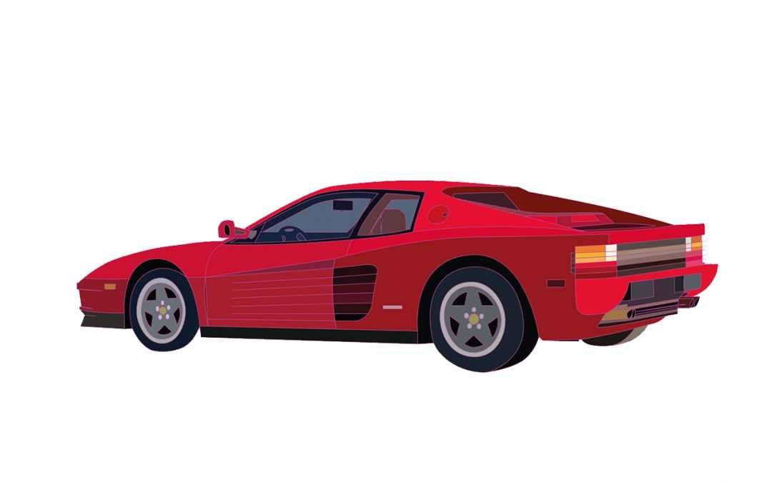 Ferrari Testarossa Illustration
