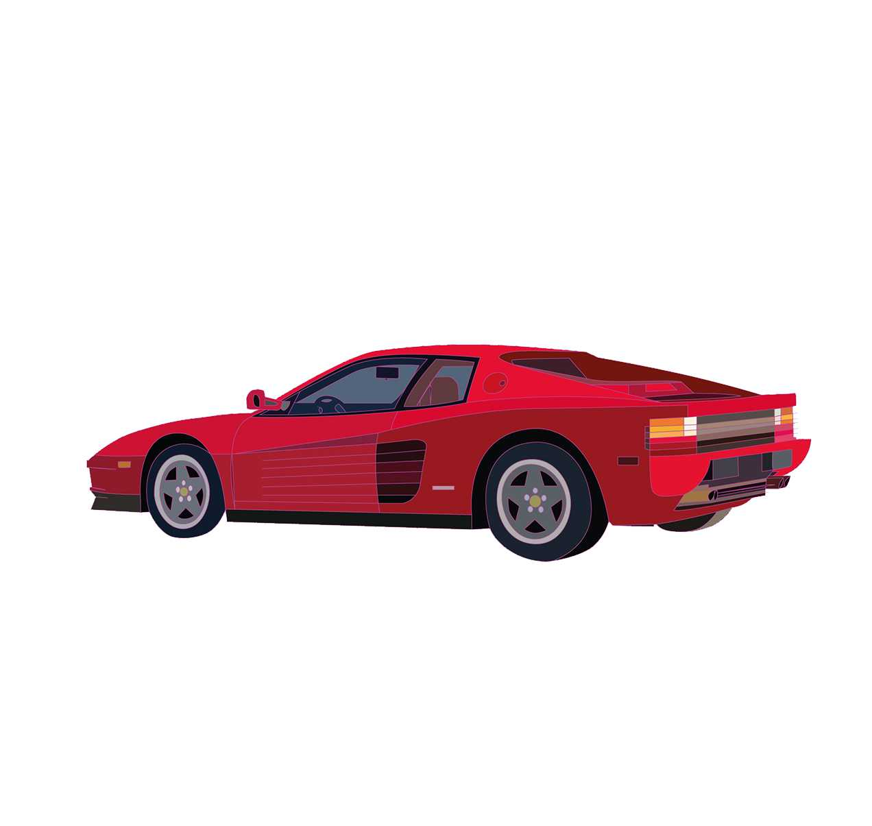 Ferrari Testarossa Illustration