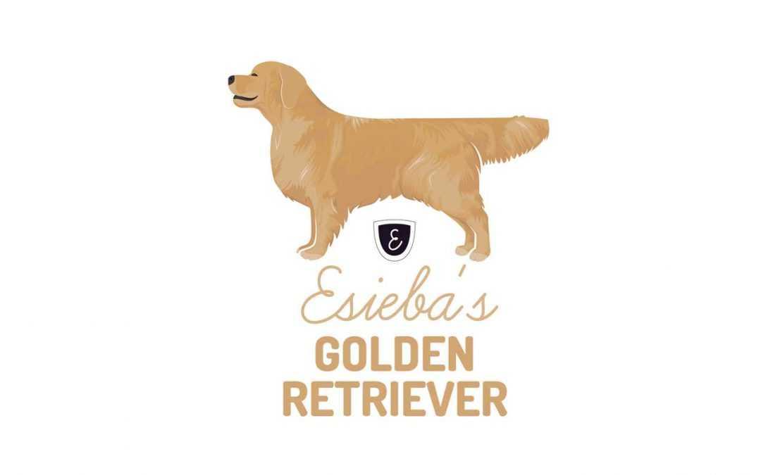 Esieba's Golden Retriever Logo