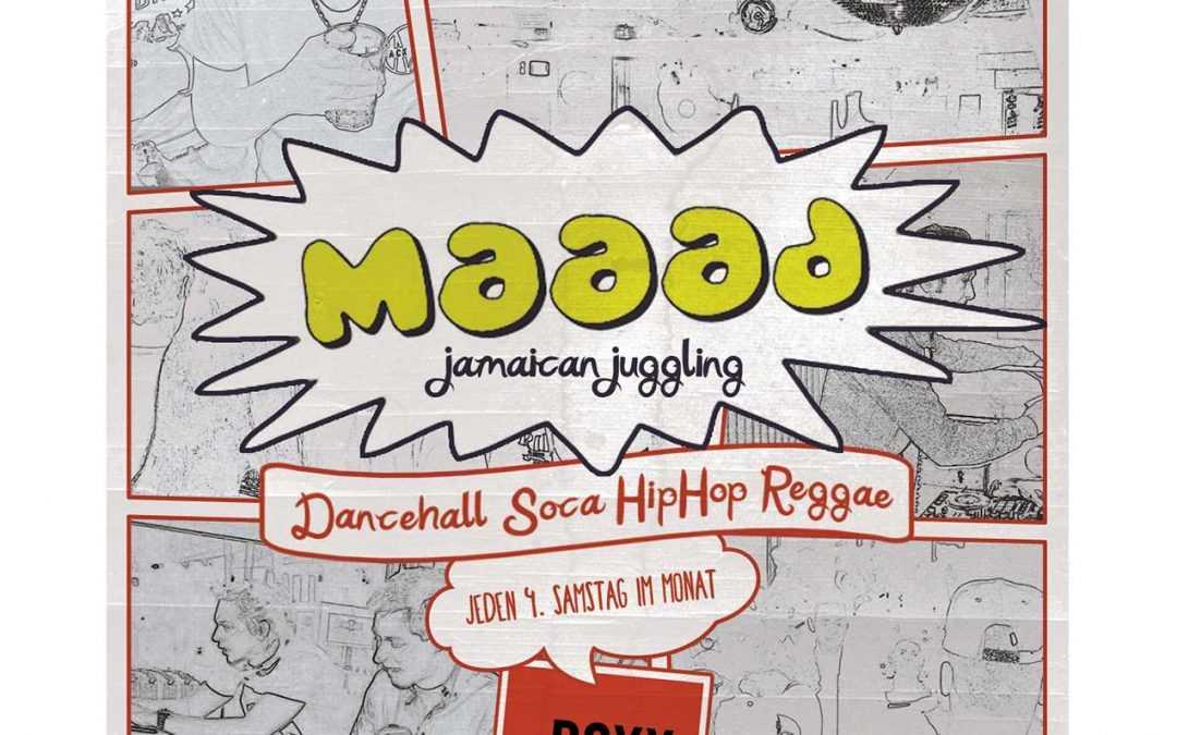 Maaad Jamaican Juggling Flyer